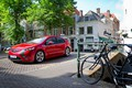 Picture Opel, trees, auto, Ampera, bike, street, red