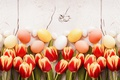 Picture decoration, wood, Easter, Easter, tulips, tulips, tender, eggs, spring, Happy