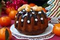 Picture cupcake, chocolate, tangerines