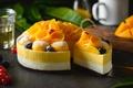 Picture dessert, cakes, mango, fruit
