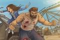 Picture cinema, girl, blood, Wolverine, Hugh Jackman, X-Men, Logan, man, cartoon, Marvel, hero, film, kid, Laura, ...