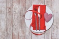 Picture heart, plate, knife, plug, heart, Valentine's Day