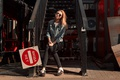 Picture no entry, the beauty, girl, jacket, jeans, Stepan Gladkov