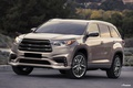 Picture grey, tuning, Toyota, drives, front, bumper, cars, tuning, Highlander, Toyota Highlander, i-Premium