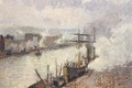 Picture Camille Pissarro, ship, Ships in the Port of Rouen, picture