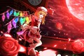 Picture vampire, blood Moon, night, red eyes, hell of a grin, Flandre Scarlet, art, Ddfftasogare, Touhou ...