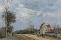 Picture landscape, picture, Camille Pissarro, The House Of Mr Mushi. The road to Marly. Louveciennes