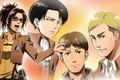 Picture Anime, Guys, Attack Of The Titans, Levi, Hanji