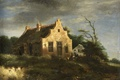 Picture landscape, Jacob van Ruisdael, Farm House Among The Wooded Dunes, oil, picture, tree