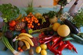 Picture fruit, vegetables, different