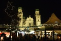 Picture Bayern, Christmas, night, fair, lights, St. Stephen's Cathedral, Germany, holiday, New Year, Passau