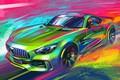 Picture Auto, Figure, Machine, Mercedes, Color, Art, Mercedes Classe C, Classe C