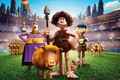 Picture rocks, cartoon, characters, mountains, arena, Early Man, Wild ancestors, poster, the volcano