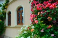 Picture Flowers, House, Windows, House, Flowers