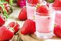 Picture berries, drink, smoothies, strawberry, glasses