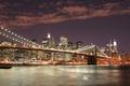 Picture New York, Night, Brooklyn Bridge