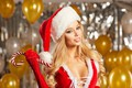 Picture balls, glare, holiday, hat, Shine, new year, Christmas, makeup, dress, hairstyle, blonde, gloves, maiden, air, ...