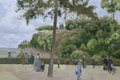 Picture Camille Pissarro, people, landscape, walk, Town Park in PONTOISE, stay, picture