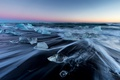 Picture nature, ice, Iceland, shore, sea