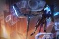 Picture girl, light, night, the city, fiction, skyscraper, mask, bow, cyberpunk, League of Legends, ashe, visor, ...