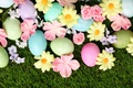 Picture grass, decoration, Easter, Easter, eggs, Happy, spring, flowers, flowers
