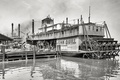 Picture USA, pier, steamer, ship, retro