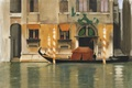 Picture the city, boat, figure, watercolor, channel, William, Witten, View Of Venice