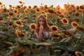 Picture Alexander Kozyura, sunflowers, mood, Natalie, field