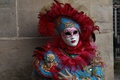 Picture costume, carnival, mask, feathers