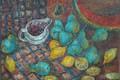 Picture berries, lemon, Svetlana Nesterova, a piece of watermelon, Blue pear