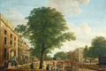 Picture the urban landscape, oil, View of the Herengracht Canal in Amsterdam, picture, Hendrik Keun, tree