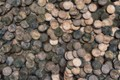 Picture a lot, coins, background