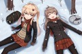 Picture winter, hat, girls, anime, art, rabochicken
