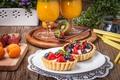 Picture strawberry, tart, sweet, berries, delicious, berries, blueberries, sweet, basket, dessert, dessert, cream, tartlet
