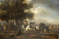 Picture landscape, oil, Philips Bowerman, picture, French Rider, tree