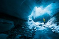Picture pearls, cave, ice, men