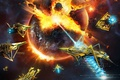 Picture spaceship, combat group, Space flight simulation game, Little Green Men Games, space fleet, fire, Microsoft ...