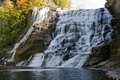 Picture Waterfall, USA, Fall, Ithaca, Autumn, Nature, Rocks, USA, Waterfall, Autumn, Ithaca