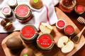 Picture apples, jars, honey