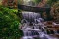 Picture nature, the bridge, waterfall, stones