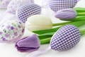 Picture spring, decoration, pastel, Easter, Easter, tulips, tulips, happy, delicate, spring, flowers, eggs, flowers