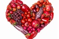 Picture raspberry, apples, heart, strawberry, grapes, pepper, fruit, vegetables, tomatoes, heart, grapes, strawberry, garnet, fruits, apples, ...