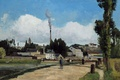 Picture Landscape with Factory, Camille Pissarro, pipe, smoke, picture