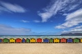 Picture beach, shore, South Africa, Africa, sea, plania houses