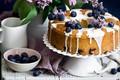 Picture berries, cakes, sweet, glaze, blueberries, pie