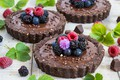 Picture dessert, chocolate, raspberry, berries