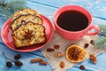 Picture raisins, cupcake, new year, nuts, coffee, drink, cakes, Anis