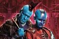 Picture cinema, film, Gillan Laren, Youndu, arrow, weapon, Nebula, movie, blue, Guardians of the Galaxy Vol. ...