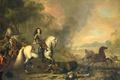 Picture picture, genre, Jan van Huchtenburg, The Prince Of Nassau-Dietz. The captain in battle