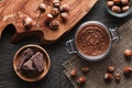 Picture dessert, chocolate, chocolate paste, nuts